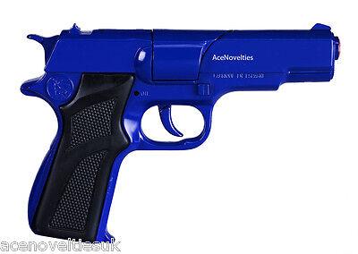 Gonher Police 8 Ring Shot Toy Cap Gun Diecast 16.5cm - Made in Spain - BLUE