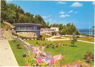 Vintage Poland Chrome Postcard Gdynia Polanka Redlowska Basen Plywacki