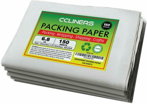 "CCLINERS Packing Paper Newsprint Sheets for Moving 31""x21.5"", 48GSM (150 count)"