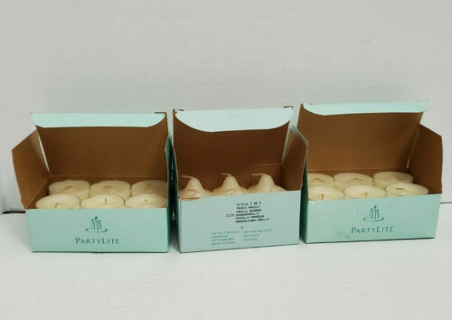 Lot Partylite 2 Boxes Vanilla Tealights 1 Box French Vanilla Votive Candles