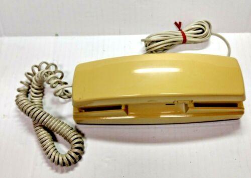 Vtg Yellow GE Phone Classic Favorite Trimline Push Button Phone