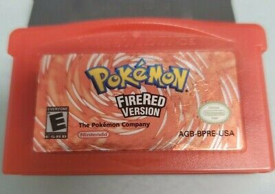 Pokemon Fire Red Version + Saves - Authentic Nintendo Game Boy Advance GBA