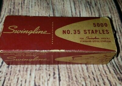 1 Box Of 5000 Swingline Rw-35 Standard Staples Usa Vintage Few Used