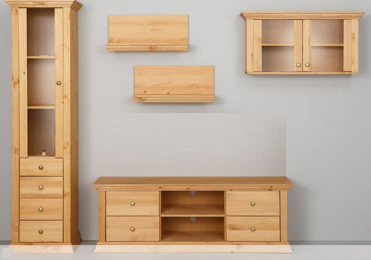tv lowboard kiefernholz gelaugt tv schrank tv m bel eur 189 00 picclick de. Black Bedroom Furniture Sets. Home Design Ideas