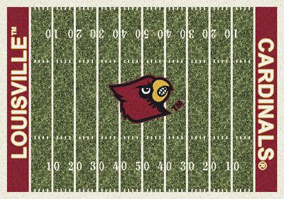 8x11 Milliken Louisville Cardinals NCAA Home Field Area Rug - Approx covid 19 (Louisville Football Rug coronavirus)