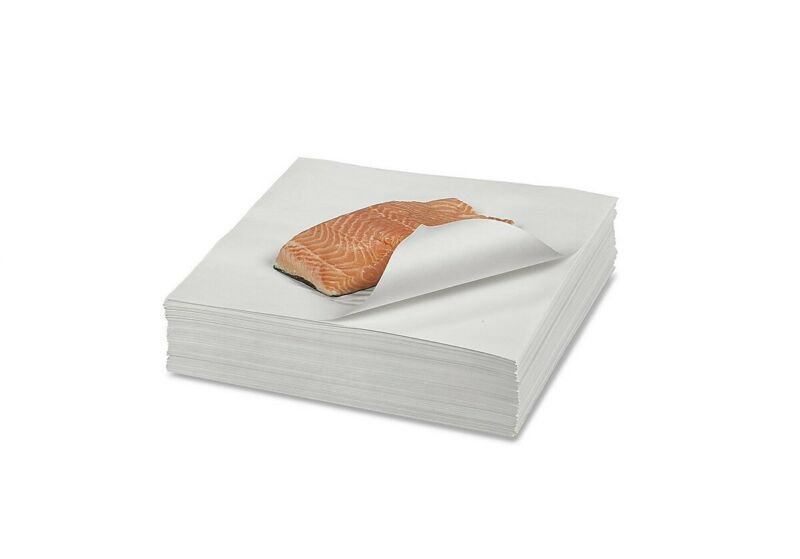 "12"" x 12"" Butcher Paper White Disposable Wrapping or Smoking Meat - 100 Sheets"