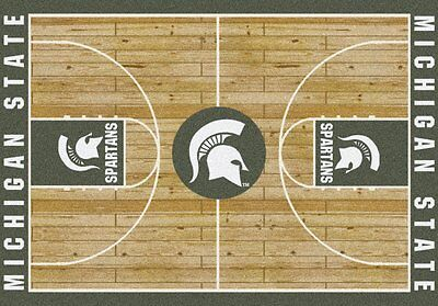 Michigan State Spartans NCAA Home Court Indoor Area Rug - Michigan State Spartans Kitchen