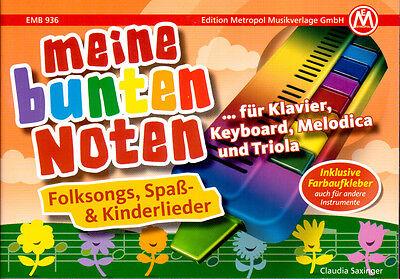 Meine bunten Noten - für Klavier, Melodica, Triola - EMB936 - 9790501639366 ()