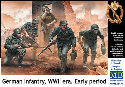 MASTER BOX™ 35177 WWII German Infantry Early Era Period Figuren in 1:35