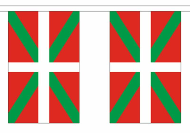 Spain Basque Polyester Flag Bunting - 9m long with 30 Flags