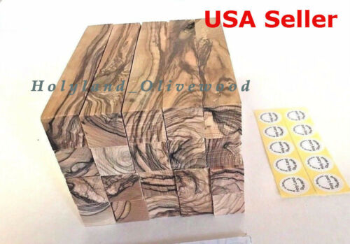 10 ~PREMIUM QUALITY~ BETHLEHEM /HOLY LAND~FIGURED~ Olive Wood Pen Turning Blanks