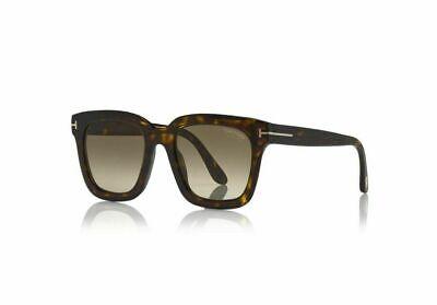 Authentic Tom Ford FT 0690 Sari 52F Dark Havana/Brown Shaded Mirror Sunglasses