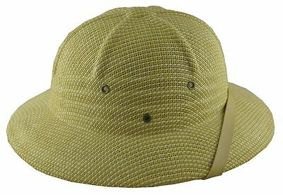 Mm Sommer 100% Stroh Tropenhelm Postbote Mütze Natur Weiß