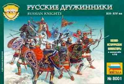 Zvezda 1/72nd Medieval Russian Knights Figures Set 8001 OOP