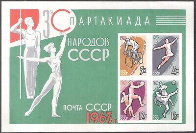 Russia 1963 Spartacist Games Souvenir Sheet MNH (SC# 2763a)