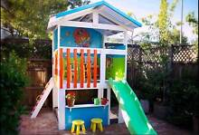 My Cubby - custom cubby house with slide and sandpit. St Kilda Port Phillip Preview