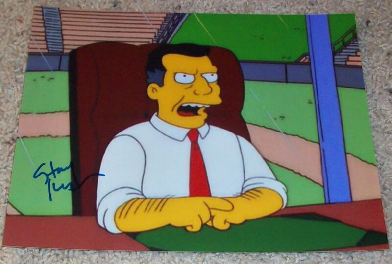 STACY KEACH SIGNED AUTOGRAPH THE SIMPSONS 8x10 PHOTO B w/EXACT PROOF