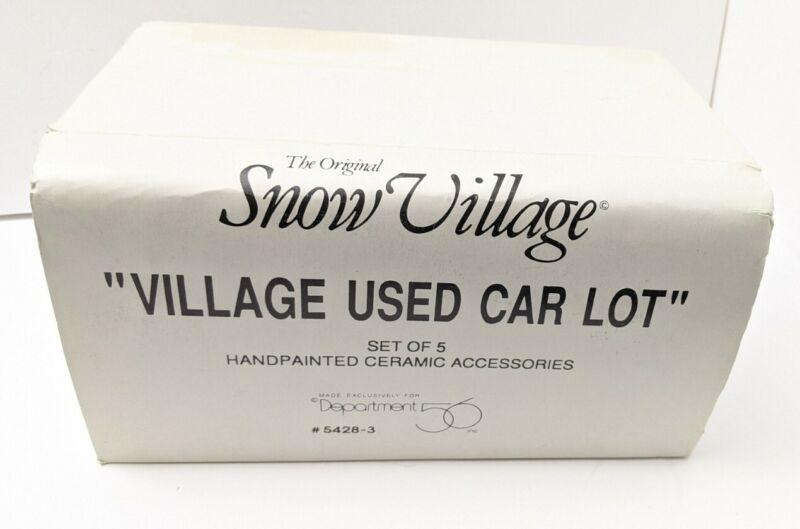 Rear Dept 56 Snow Village Village Used Car Set of 5 No Flag