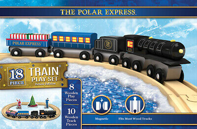 The Polar Express Complete Wooden Train Play Set Masterpieces 42077 Christmas