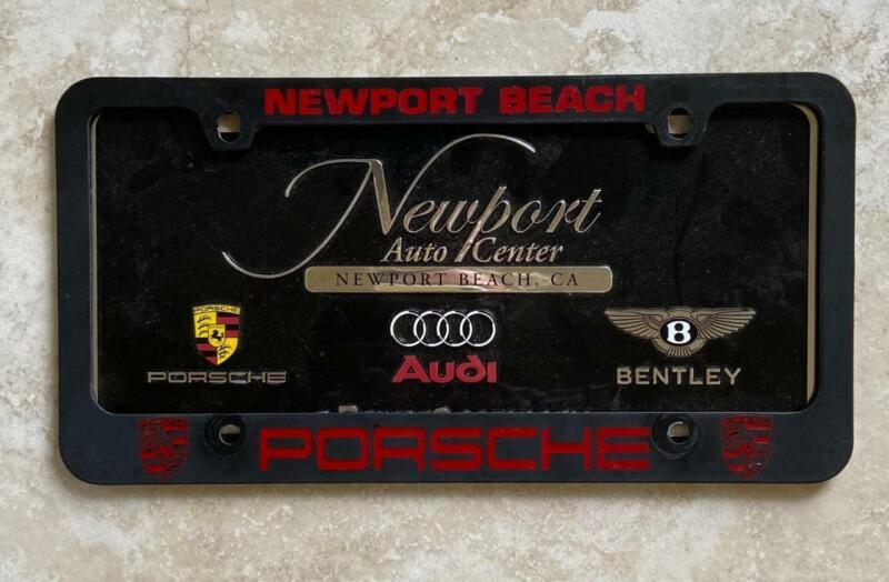 Porsche Dealer Newport Beach California License Plate Frame 1956+
