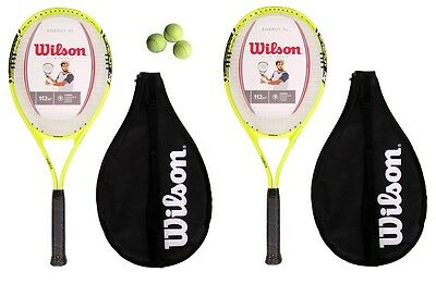Wilson Energy XL 2 x Tennis Racket Set + 3 Tennis Balls RRP £80