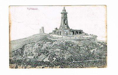 DR gut erhaltenen Ansichtskarte von Kyffhäuser Denkmal 10.8.1909 in die USA ()