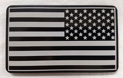 Army Patch American Flag, Billet Aluminum Hitch Cover Plug,4x6 Made In USA