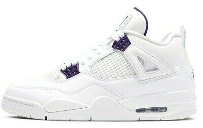 Air Jordan 4 Metallic Purple Retro White Court Purple CT8527-115