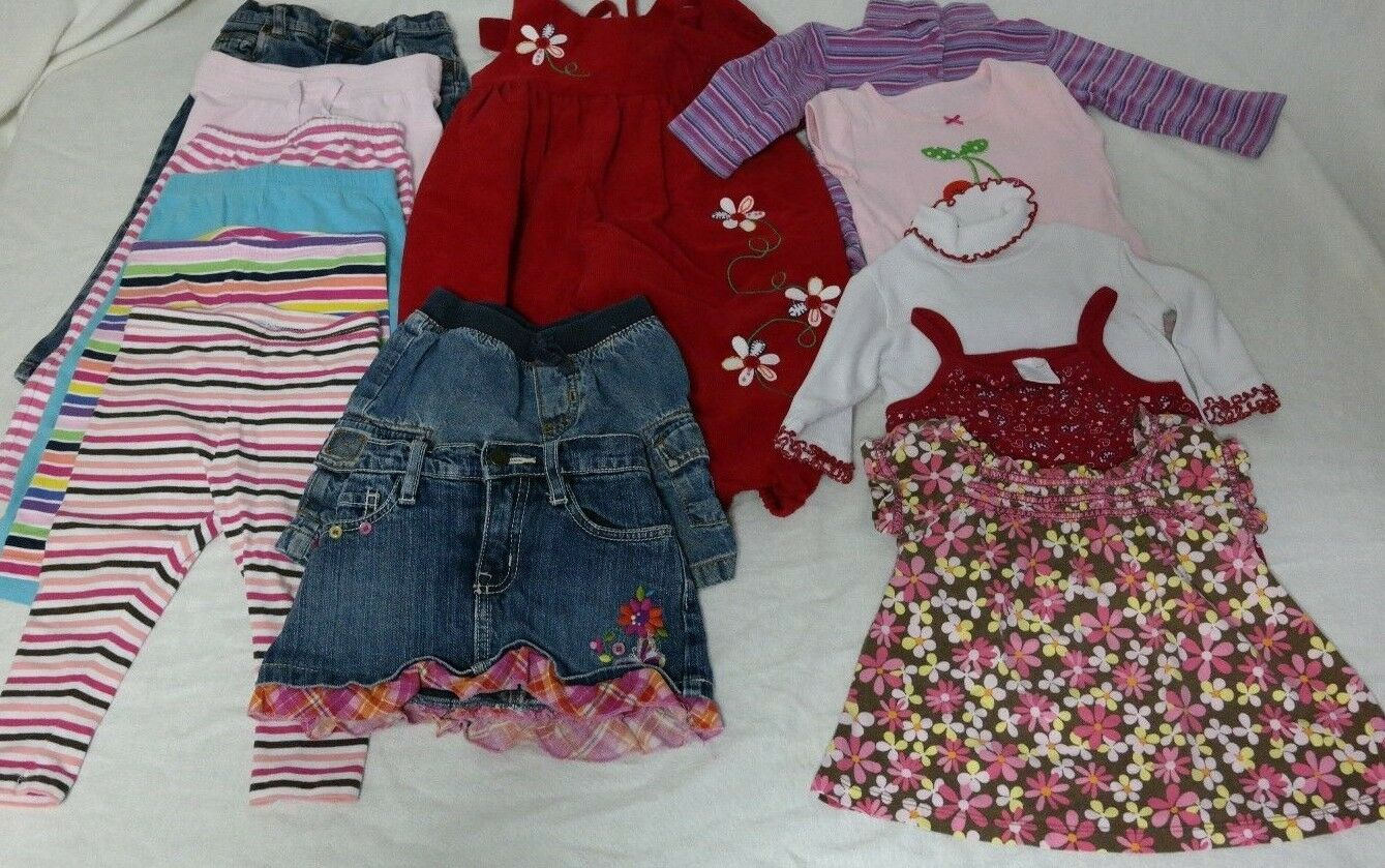 Girls Baby 18 Month Clothes Lot Toddler Fall Carters