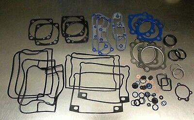 Harley Evo 1340 Big Bore Upper Top End Gasket Set w/Teflon & Carbon Head 1984-99