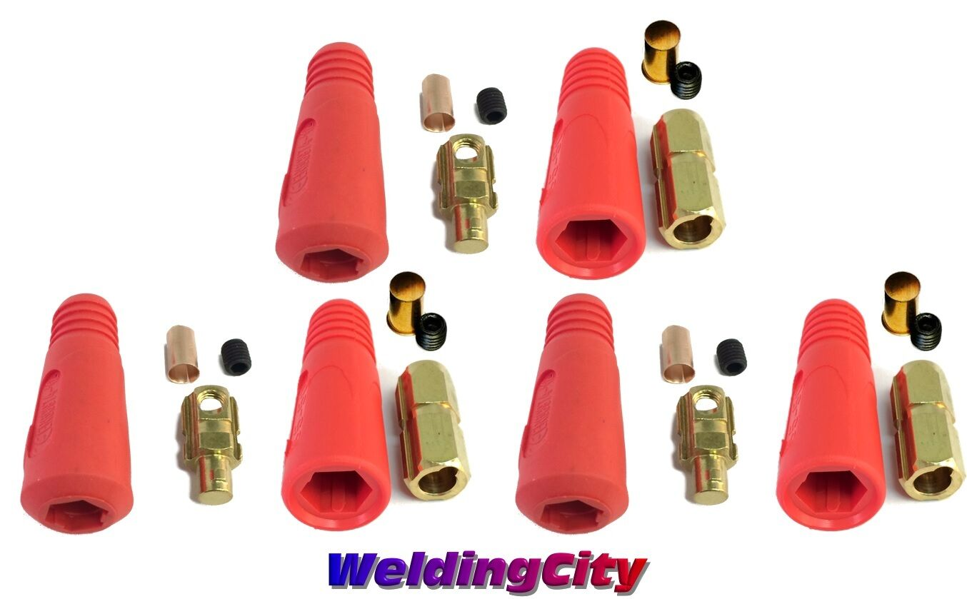 Welding Cable Panel Socket Connector Set Dinse #2-1//0 35-50mmUS Seller
