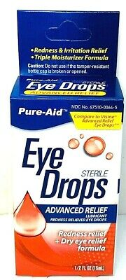 Tears Eye Drops Advanced Relief Lubricant Redness Reliever Eye Drops Eye Drops Advanced Relief