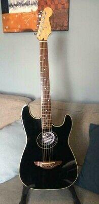 Fender Stratacoustic Electro Acoustic Guitar - Gloss Black.