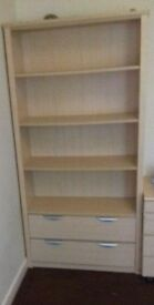 Book shelves with draws mint condtion
