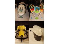 Home clearance - baby swing, baby bouncer, car seat, steriliser – together or separately
