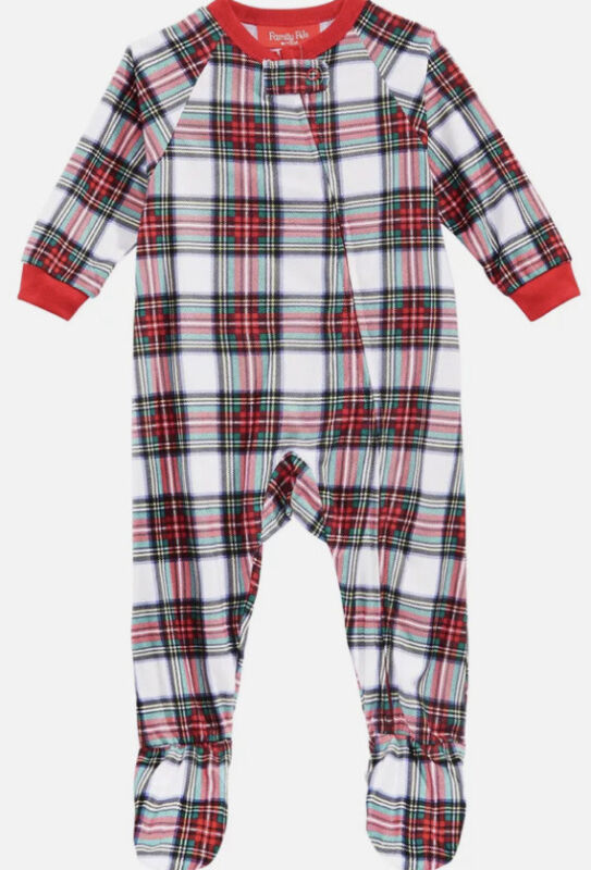 Family Pajamas Matching Baby Stewart Plaid Footed Pajamas size 6-9 months
