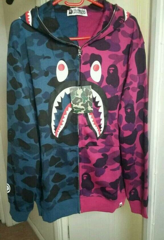 Mens two colour Bape jacket