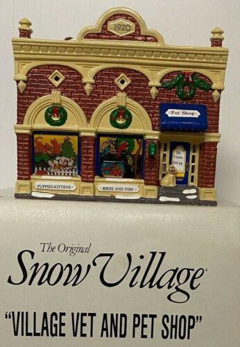 Dept 56 Snow Village, Village Vet and Pet Shop w/box, sleeve, and light