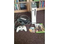 Xbox360 console with games