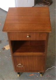 Vintage wood side table/drawer