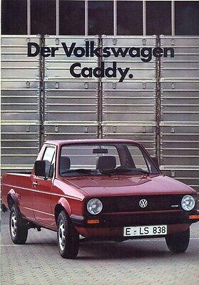 Volkswagen Golf Mk 1 CADDY sales brochure German market 1983