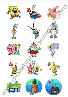 Spongebob Cupcake Toppers ((15) 2