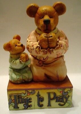 BOYDS--Jim Shore--Mommy Bearybless & Sweetpea...time to pray #4015884 MIB (BB12) ()