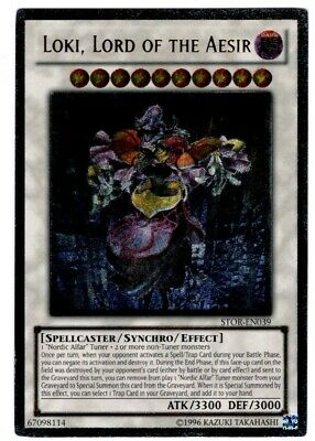 Yugioh - Loki, Lord of the Aesir - Ultimate Rare - Unlimited - STOR - EN039 -