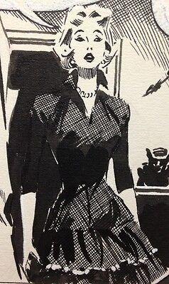 CAROL DAY Original Comic Strip Art #52 DAVID WRIGHT Charles Logan 11-8-1956