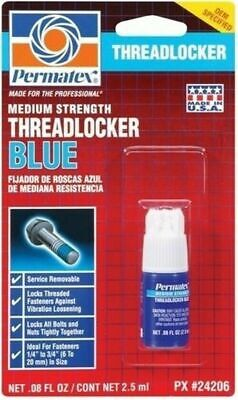 Permatex 24206 Medium Strength Threadlocker Blue .08 Oz Bottle