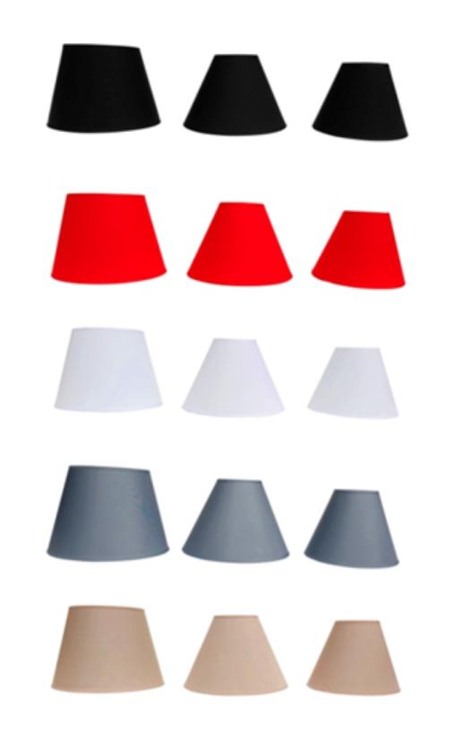 Lampenschirm/Tischleuchte/Stehlampe/Rot /Schwarz /Weiß/Grau/Beige/Stoff/E14/E27