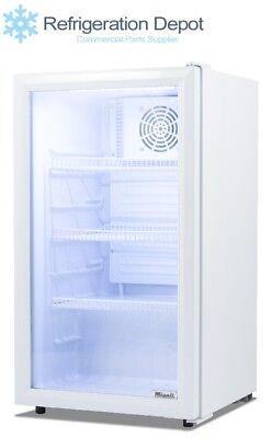 Migali C-04rm Counter-topundercounter Glass Door Refrigerator 4 Cuft