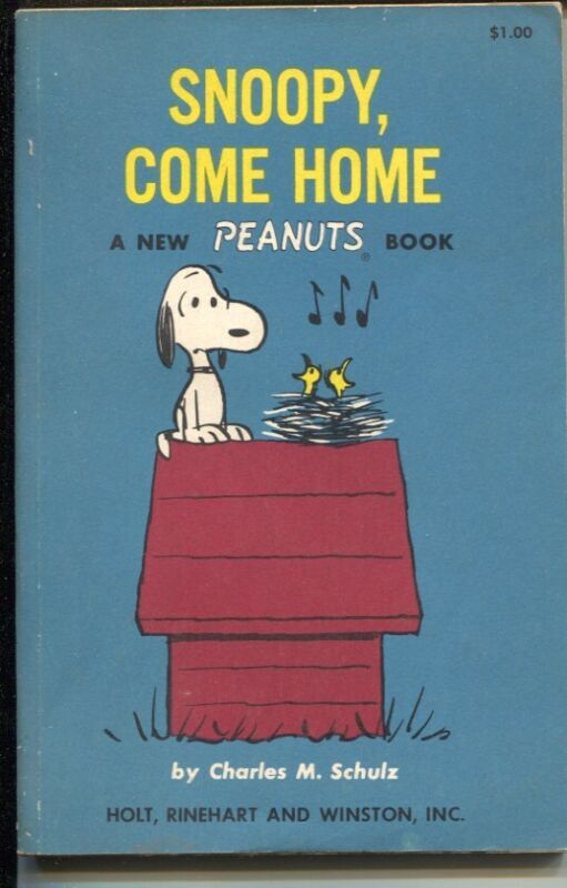 Snoopy, Come Home 1967-Charles Schulz art-reprints Peanuts daily strips-VG/FN