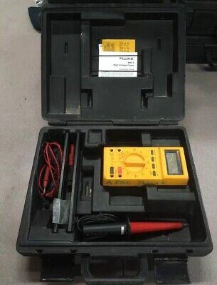 Fluke 27 Digital Multimeter 80k-6 Hv 1000v Probe Hard Case Good Condition